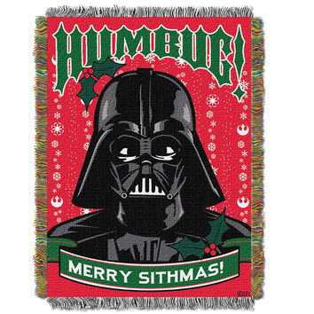 Star Wars Classic Humbug  Woven Tapestry Throw (48inx60in)