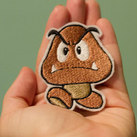 Goomba Ironon Nintendo patch from Super Mario by OKsmalls on Etsy