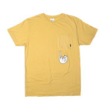 Falling For Nermal Pocket Tee (Banana) | RIPNDIP