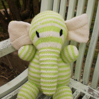 Elephant Toy Hand Knitted