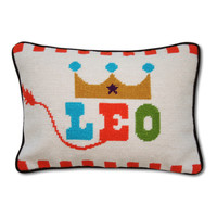 Jonathan Adler Leo Zodiac Needlepoint Throw Pillow