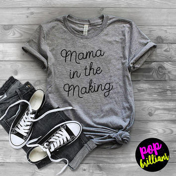 Pregnancy Announcement For Moms TShirt, Mom To Be Shirts, Gifts for Moms to Be, New Mom, Baby Shower Gift, Pregnancy Reveal Tee,Pregnant F11