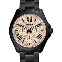 Fossil Women's Cecile Black Ion-Plated Stainless Steel Bracelet Watch 40mm AM4593