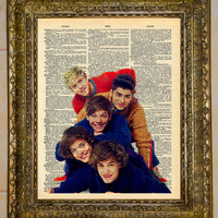 One Direction Dictionary Art