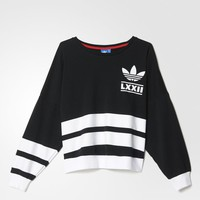 adidas Berlin Logo 3-Stripes Crew Sweatshirt - Black | adidas US