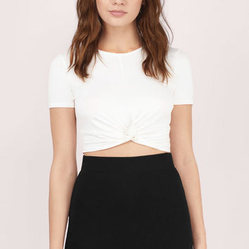 Knotted Up Crop Tee