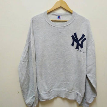 NY Russell Athletic sweatshirt pullover big logo New York made in USA