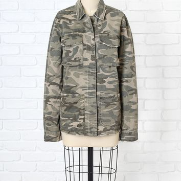 Camo Cotton Military Jacket | NRFB