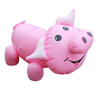 Newest Kids RIde on Water Toys Inflatalbe Pink Pig Float Toys Thicken PVC Outdoor Fun Toys for Summer Swimming Pool Party Favor