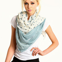 Dotted Duo-Tone Scarf