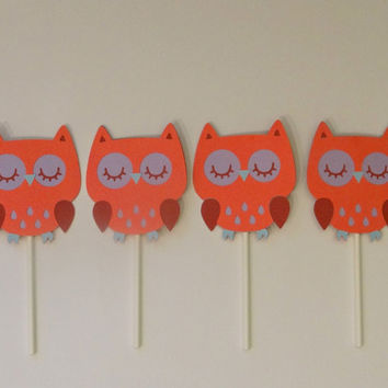 Owl Baby Shower | Cupcake Topper | Pink Purple | Baby Girl | Gender Reveal | Baby Shower