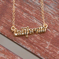 Gold California Double Chain Necklace