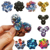 2017 New Tri-Spinner Fidget Toy EDC HandSpinner Anti Stress Reliever Hand Spinners