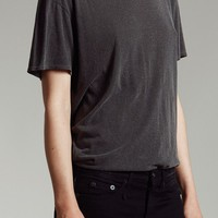 Boy tee washed black