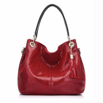 woman handbags genuine leather bag female hobos shoulder crossbody bags