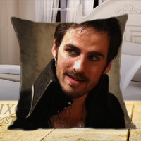 Once Upon a Time Captain Hook Believe on Square Pillow Cover