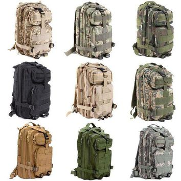 VONL8T Large Capacity 30L Hiking Camping Bag Army Military Tactical Trekking Rucksack Backpack Camo storage bag