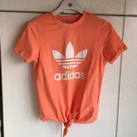 "Women Fashion ""Adidas"" Print Loose T-Shirt Top Tee"