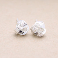 925 sterling silver Small knot earrings