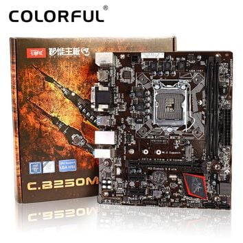 Colorful Motherboard Battle AXE C.B250M-HD V20 for Intel B250 LGA 1151 Socket SATA 6Gb/s USB 3.0  DDR4 mATX Desktop Mainboard