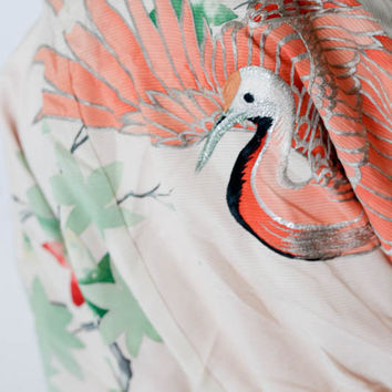 Couture Hand Embroidered Hand Painted SILK Cropped  Kimono Jacket NWT