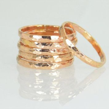 Thick 14k Rose Gold Filled Stackable Ring