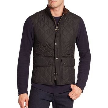 Lowerdale Quilted Gilet in Black by Barbour