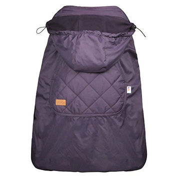 Bebamour Universal Hoodie All Season Carrier Cover for Baby Carrier (Dark Purple)