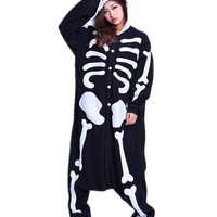Unisex Plush Animal Onesuits Pajamas Cosplay Skeleton Cosplay Size L