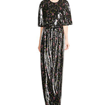 Emilio Pucci - Sequin-Embellished Silk Maxi Dress