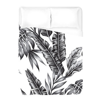 Retro Palms Duvet Cover