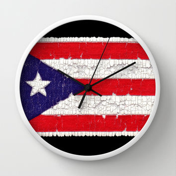 Puerto Rican flag Wall Clock by Bruce Stanfield