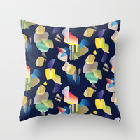 Random shapes Throw Pillow by Sagacious Design