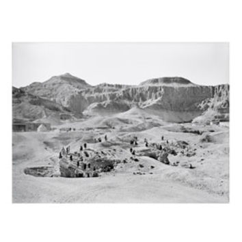 Excavation of Tombs Print