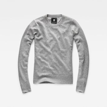 Core Knit Pullover | Grey Htr | Women | G-Star RAW®