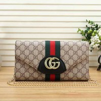 GUCCI Trend Red And Green Striped Women'S Chain Bag Shoulder Bag Messenger Bag