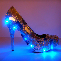 Women's Custom Designed Shoe/ Pump SHOWSTOPPER One of a Kind High Heel led