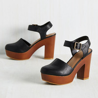 Downtown Personality Heel in Black | Mod Retro Vintage Heels | ModCloth.com