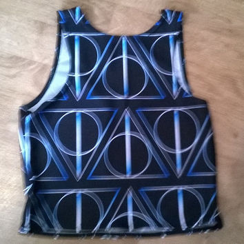 Harry Potter Deathly Hallows Crop Top