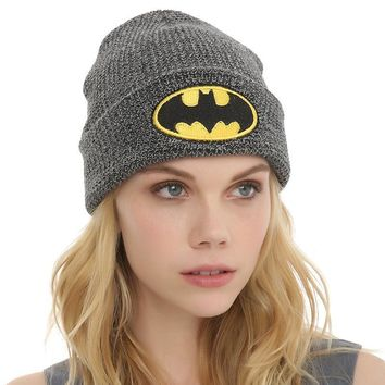 Day-First™ Batman Embroidery Women Men Beanies Winter Knit Hat Cap