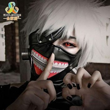High Quality Clearance Tokyo Ghoul 2 Kaneki Ken Mask Adjustable Zipper Masks Pu Leather Cool Mask Blinder Anime Cosplay