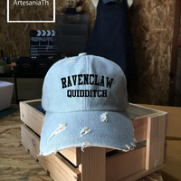 Ravenclaw Quidditch Harry Potter, Baseball Cap, Denim Cap, Ravenclaw Cap, Harry Potter Cap, Girlfriend gift, Low-Profile,  Baseball Hat