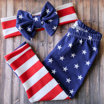 baby girl clothes - fourth of july outfit - 4th of july leggings - american flag leggings - baby leggings - toddler leggings - baby girl