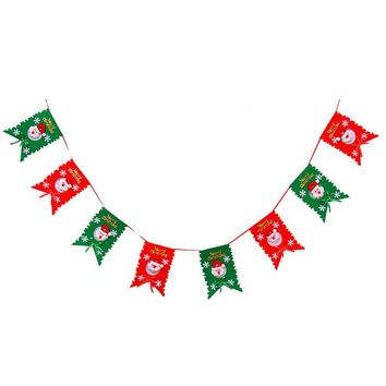 Christmas Decoration Home Bunting Banner Garland Props Snowman Flag