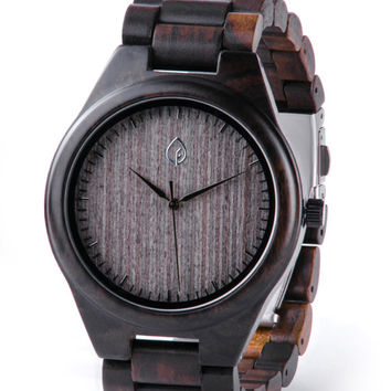 Black Wooden watch, wood watch, FREE engraving, 5 year Anniversary Gift, Personalized Men's Watch,Mens Wooden Watch, Real Wood Mens Watch