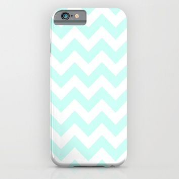 Turquoise Chevron Pattern iPhone & iPod Case by New Wave Studio