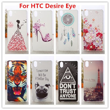 For HTC Desire Eye Case /Luxury Crystal Diamond 3D Bling Hard Plastic Cover Case For HTC Desire Eye M910X Phone Cases
