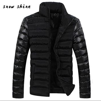 snowshine #4503 Men Winter Warm Slim Fit Thick Bubble Coat Casual Jacket Parka Outerwear free shipping