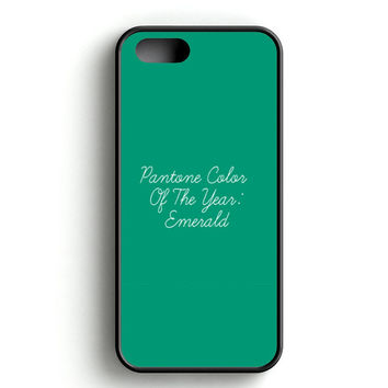 Pantone Emerald Color Of The Year iPhone 4s iPhone 5s iPhone 5c iPhone SE iPhone 6|6s iPhone 6|6s Plus Case
