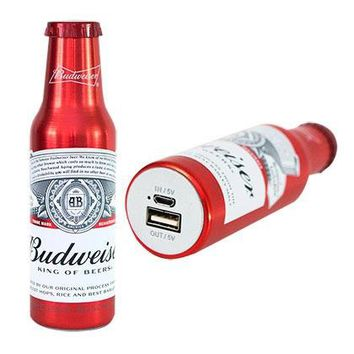 Budweiser Bottle Phone Charging Power Bank